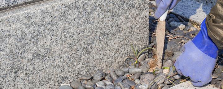 倉敷市石材店のお墓クリーニングのポイント2