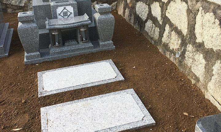 倉敷市石材店のお墓のこだわり敷石