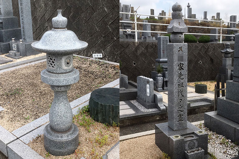 倉敷市石材店の灯篭・供養塔